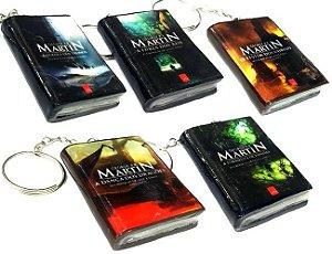 Chaveiro Guerra dos Tronos Mini Livro (5 opções)