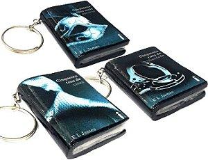 Chaveiro Cinquenta Tons de Cinza Mini Livro (3 opções)