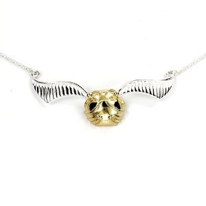 Colar Harry Potter - pomo de ouro asas abertas