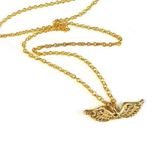 Colar Percy Jackson - Asas de Hermes dourada