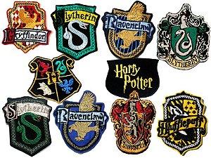 Bordado Harry Potter (Hogwarts, Sonserina, Grifinória, Lufa lufa, Corvinal)