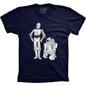 Camiseta Star Wars - C3PO and R2D2