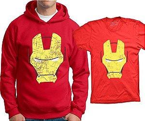 Camiseta Homem de Ferro - Rosto (ou moletom)