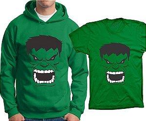 Camiseta Hulk - Rosto (ou moletom)