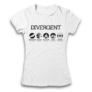 Camiseta Divergente Facções - modelo 2