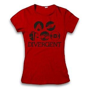 Camiseta Divergente Facções - modelo 4