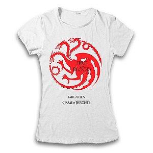Camiseta Guerra Dos Tronos - Targaryen / Fire and Blood