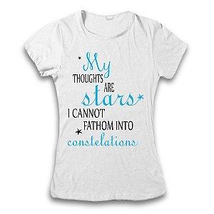Camiseta A Culpa É Das Estrelas - My Thought are Stars