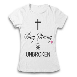 Camiseta Demi Lovato - Stay Strong and Be Unbroken
