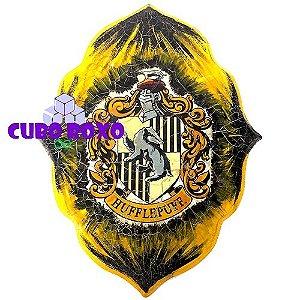Harry Potter - Quadro trabalhado com brasão da Lufa Lufa