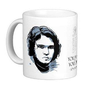 Caneca Guerra dos Tronos - Jon Snow