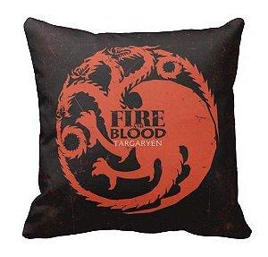 Almofada Guerra dos Tronos - Targaryen - Fire And Blood