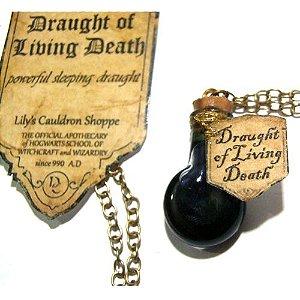 Colar Harry Potter Poções - Draught of Living Dead