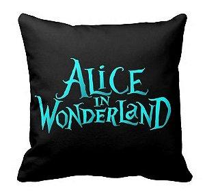 Almofada Alice no País das Maravilhas - Fundo Preto