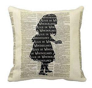 Almofada Alice no País das Maravilhas - Silhueta Livro
