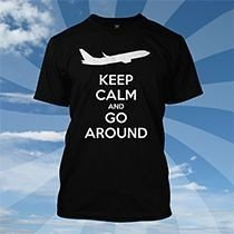 Camiseta Keep Calm And Go Around PRETA