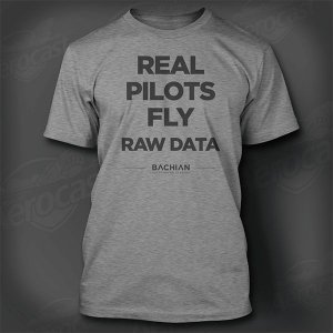 Camiseta Real Pilots Fly Raw Data - Cinza