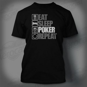 Camiseta All In - Eat, Sleep, Poker, Repeat