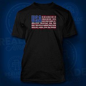 Camiseta Realidade Americana - RA LIFE