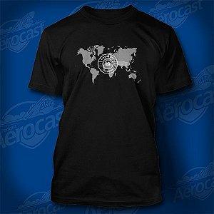 Camiseta Louco por Viagens Preta - Mundo