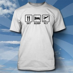 Camiseta Eat, Sleep, Fly