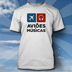 Camiseta Aviões & Músicas - Clássica