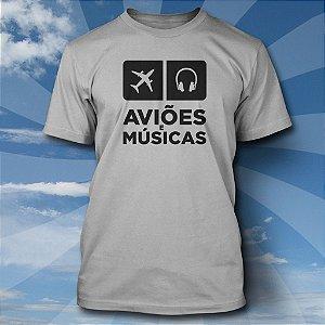 Camiseta Aviões & Músicas - Alumínio