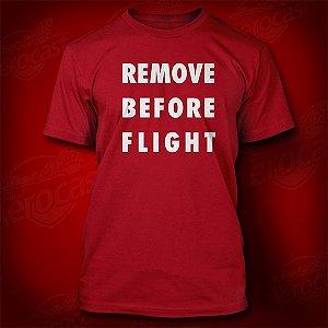 Camiseta Remove Before Flight