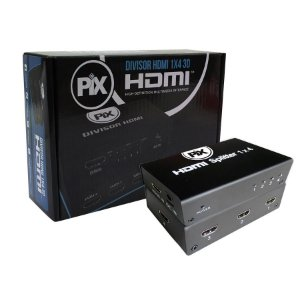 DIVISOR DE VÍDEO HDMI 1 ENTRADA X 4 SAÍDAS VERSÃO 1.4 VIDEO SPLITTER