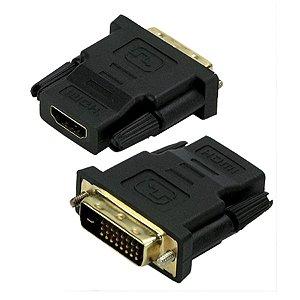ADAPTADOR DVI MACHO X HDMI FEMEA