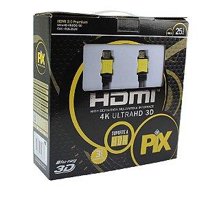 CABO HDMI PLUS 2.0 4K HDR 19P 25 METROS COM REPETIDOR