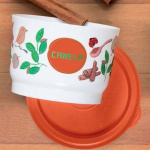 Tupperware Potinho Floral Canela 140ml