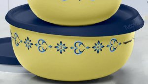 Tupperware Tigela Toque Mágico Arabesco 1,3 litro Amarelo