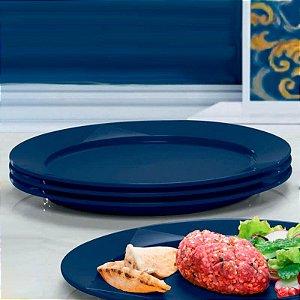 Tupperware Prato Outdoor Azul kit 4 peças