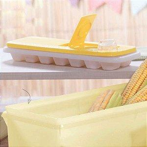 Tupperware Forma de Gelo Amarelo 14 cubos