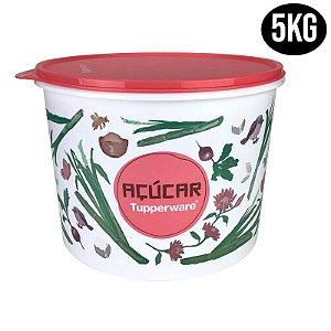 Tupperware Caixa Açúcar Floral 5kg