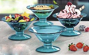 Tupperware Tacinha Premier 175ml Azul Turmalina kit 4 peças
