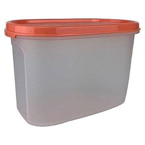 Tupperware Modular Oval 2 Laranja 1,1 litro