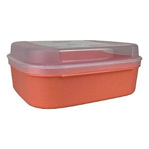 Tupperware Visual Box Pequeno 1,1 litro Laranja