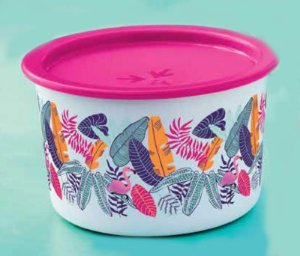 Tupperware Mini Instantânea Slim Flamingo Tropical 575 ml