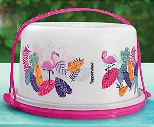 Tupperware Big Cake Flamingo Tropical Porta Bolo