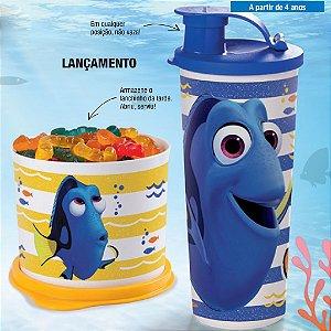 Tupperware Redondinha Dory + Copo com Bico Dory e Nemo Kit 2 Peças