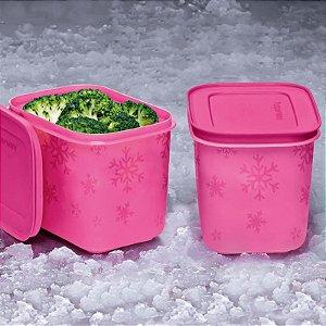 Tupperware Freezer Line 1,1 litro Rosa Pink 2 peças