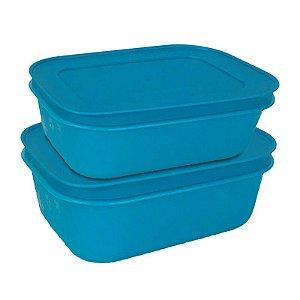 Tupperware Freezer Line 450ml Azul 2 peças
