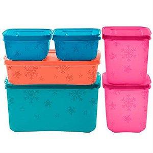 Tupperware KIT Freezer Line 6 peças