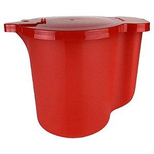 Tupperware Jarra para Aquecer no Micro-Ondas 1 litro Vermelha