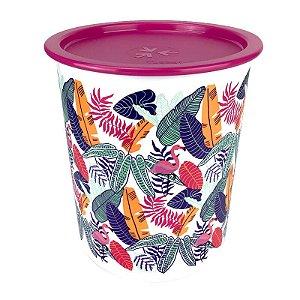 Tupperware Super Instantânea Slim Flamingo Tropical 1,3 litro