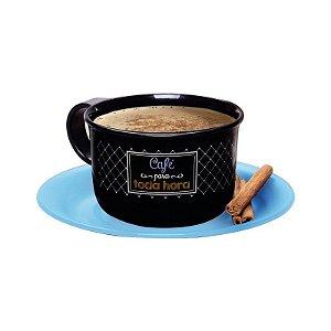 Tupperware Xícara de Café Bistrô 150ml Pires Azul