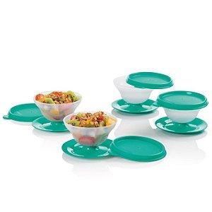 Tupperware Tacinha Sobremesa 130ml Verde kit 4 peças