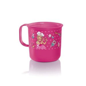 Tupperware Caneca Barbie Chef 350ml Rosa